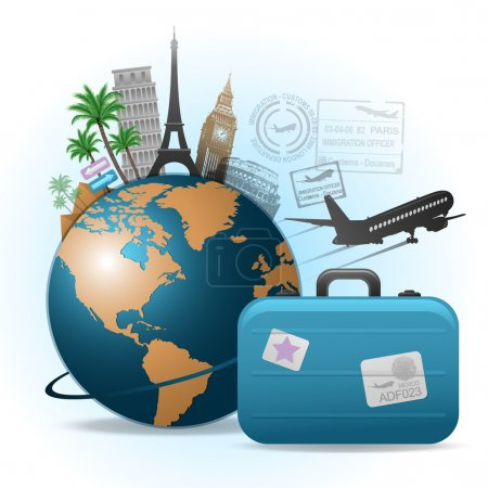 Abstract travel concept background...