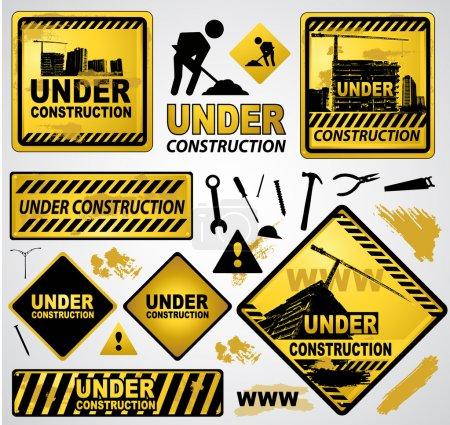 Foto de Bajo signo de construcción banner - Imagen libre de derechos