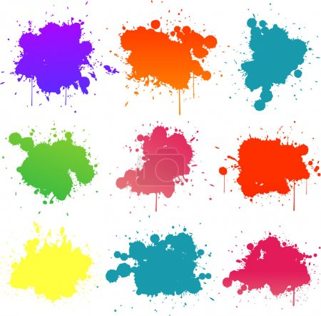 Illustration for Paint splats - Royalty Free Image