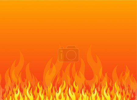 Illustration for Fire design element - Royalty Free Image