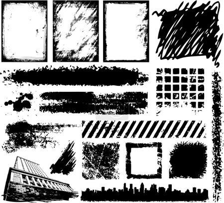 Various grunge frame vector