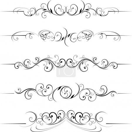 Illustration for Swirling flourishes decorative - Royalty Free Image
