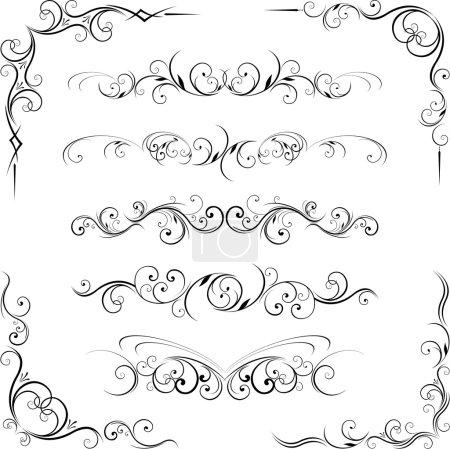 Swirling flourishes decorative