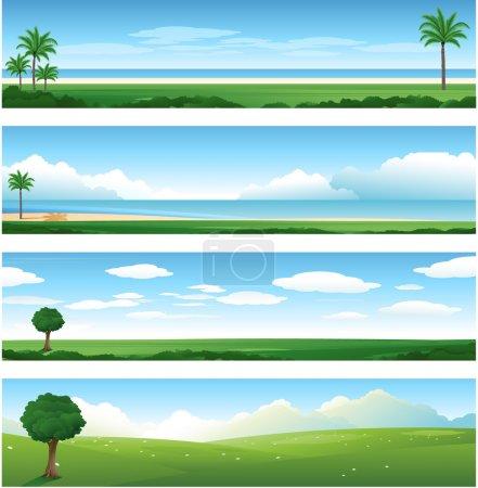 Illustration for Nature landscape background - Royalty Free Image