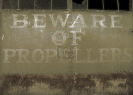 Beware of Propellers sign.