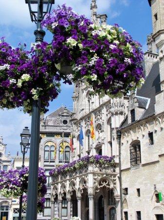Photo pour Vue sur la rue de Gand, Belgique . - image libre de droit