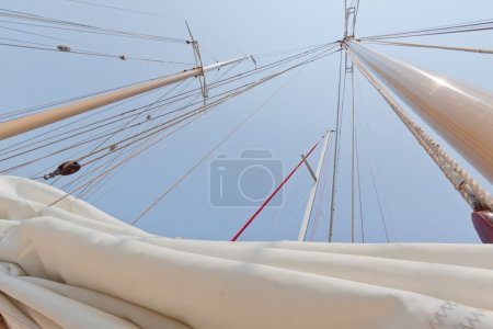 View of the private sail yacht.