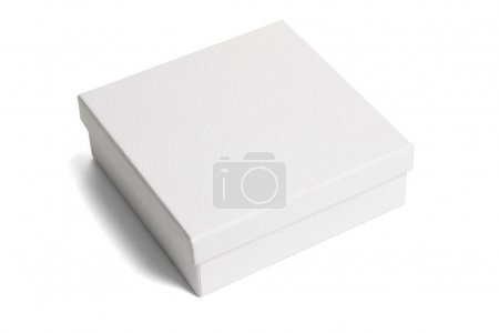 Photo for White paper gift box on isolated background - Royalty Free Image