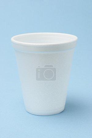 White Styrofoam cup
