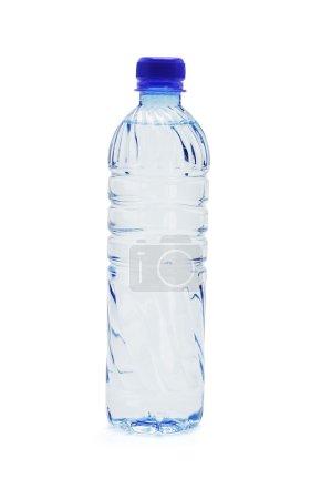 Bottled water isolated on white background...