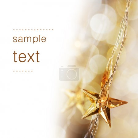 Photo for Golden Christmas stars with very shallow focus - Royalty Free Image