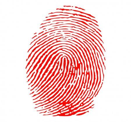 Red fingerprint vector