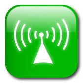 Zelené tlačítko pro bezdrátové připojení vektor