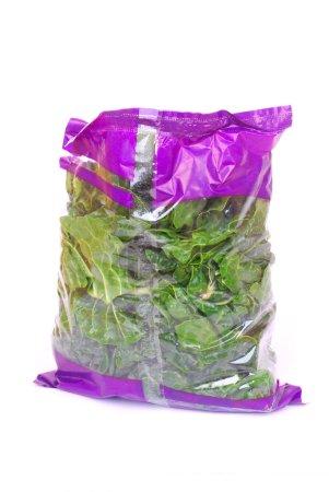 Bag of shredded spinach