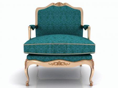 Classical stylish armchair isolated