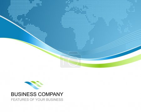 Corporate business template background with logo