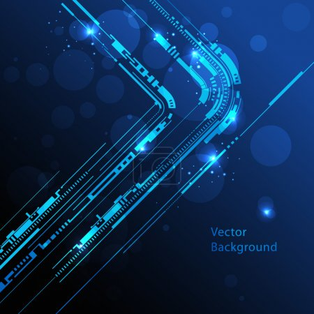Illustration for Abstract technology lines vector background - Royalty Free Image