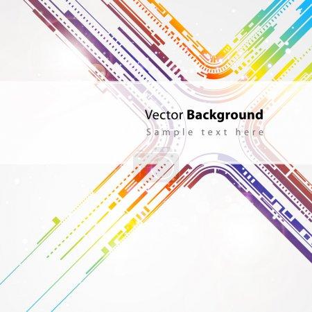 Illustration pour Technologie coloré vecteur ligne abstrait en vecteur - image libre de droit