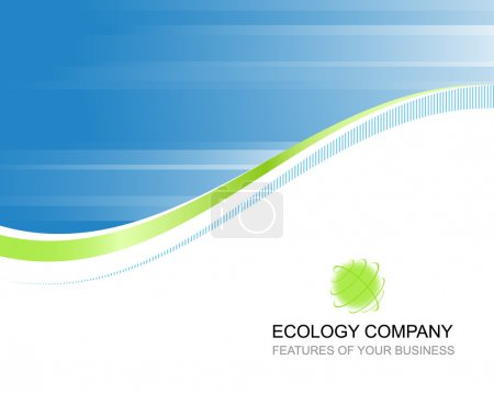 Illustration for Ecology company template background with logo - Royalty Free Image