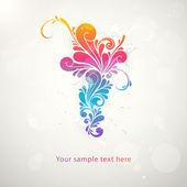 Abstract colorful pattern splash symbol