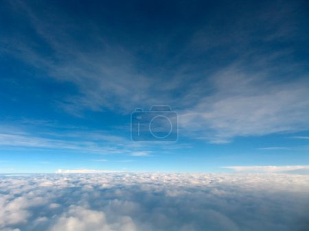 Photo for Flying above the clouds in Sabah, Malaysia - Royalty Free Image