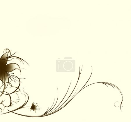 Photo for Abstract background from flower on a beige background - Royalty Free Image