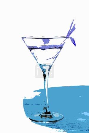 Photo pour Martini dans un verre il est isolé sur un fond blanc - image libre de droit