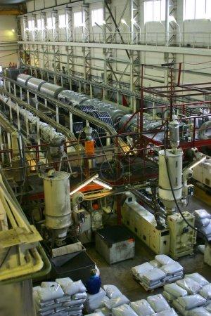 Photo pour Usine de fabrication de tuyaux de l'intérieur - image libre de droit