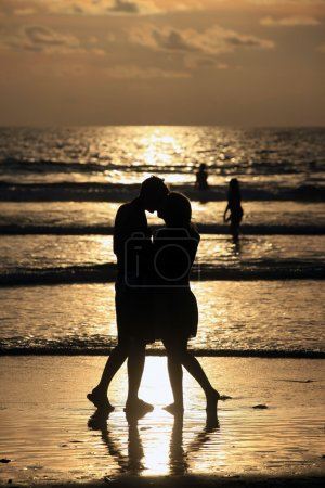 Couple on sunset.