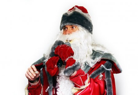 Photo for Christmas portrait of Santa Claus isolated over a white background - Royalty Free Image