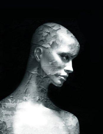 Photo pour Mannequin avec la texture imposée - image libre de droit