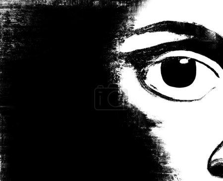 Photo pour Illustration de l'œil abstrait de l'homme - image libre de droit