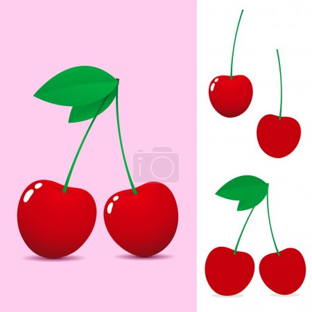 Illustration for Cherry collection - Royalty Free Image