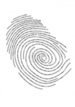 Binary finger print, vector...