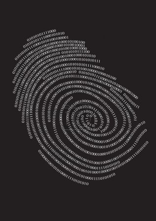Digital finger print, vector...