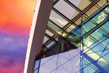 Photo for Business buildings architecture on sky background - Royalty Free Image