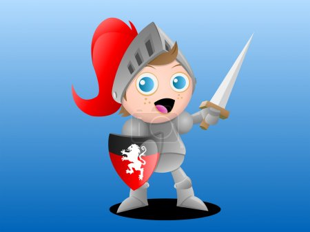 Illustration pour Illustration vectorielle d'un jeune chevalier garçon - image libre de droit