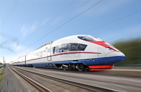 Photo for High-speed commuter train. - Royalty Free Image
