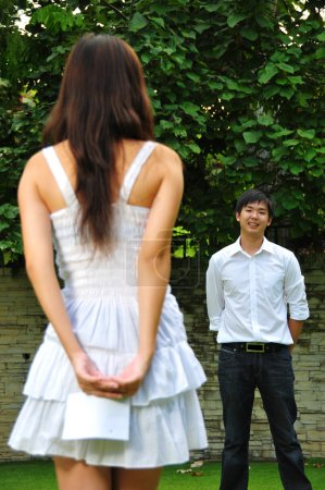 Photo for Useful for describing couples in love or in courtship - Royalty Free Image