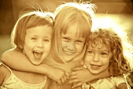Photo for Portrait of happy children outdoors - Royalty Free Image