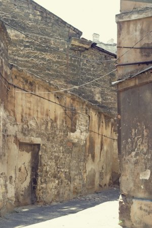 Urban scene. Old lane