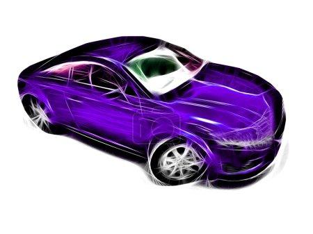 Photo pour Pinted voiture - image libre de droit