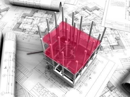 3D-Planzeichnung