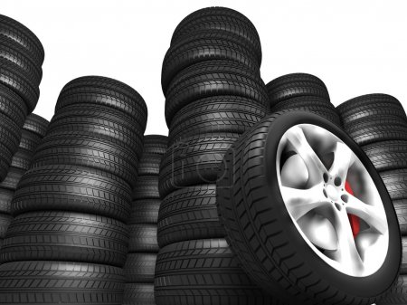 Photo for Tyres automobile - Royalty Free Image