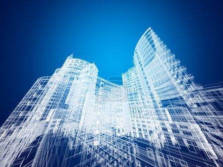 Photo pour Architecture résumée - image libre de droit