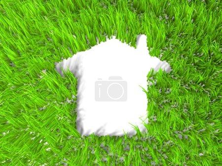 Foto de Metáfora de casa verde Eco - Imagen libre de derechos