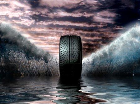 Photo pour Pneu Super - image libre de droit