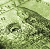 Sto dolarů bill makro snímek