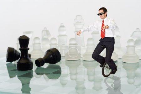 Businessman keeping the balance