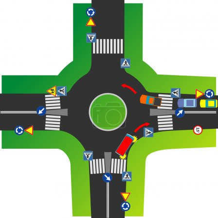 Illustration for Roundabout Szczawno - Royalty Free Image